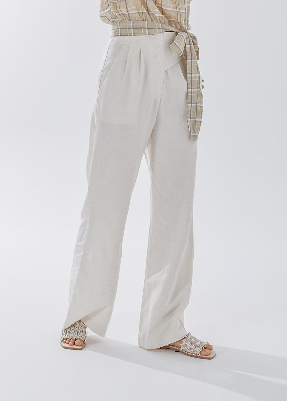 Linen wide slacks