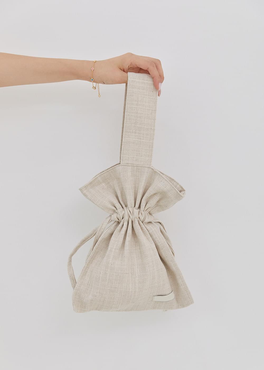 Linen mini tote bag