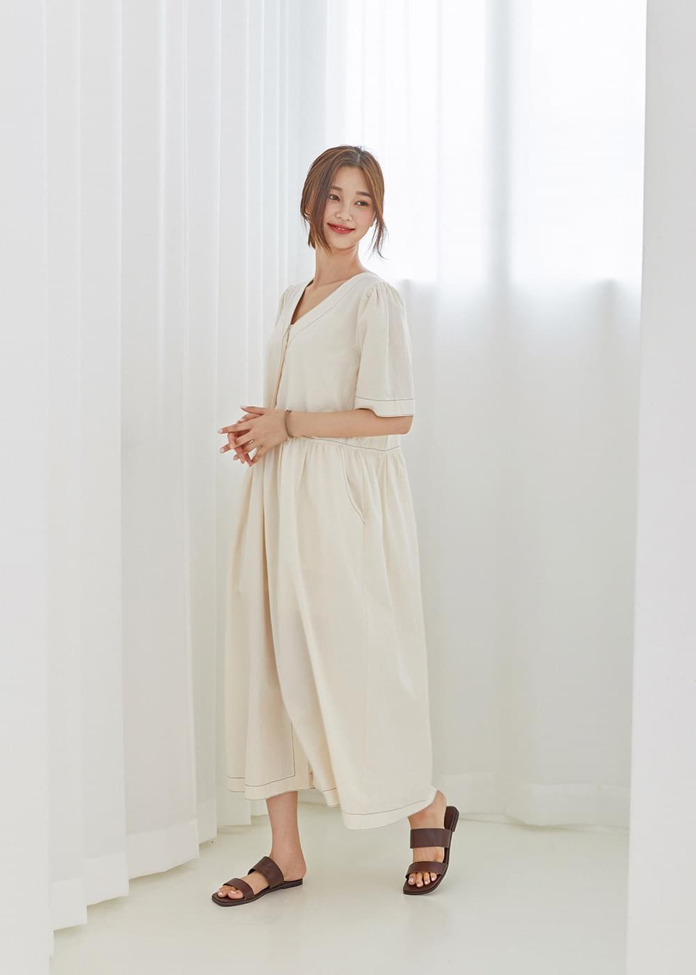 Roaming short sleeve dress
