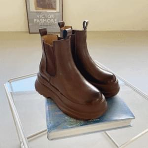 Fur Lining Full Heel Chelsea Boots 6cm