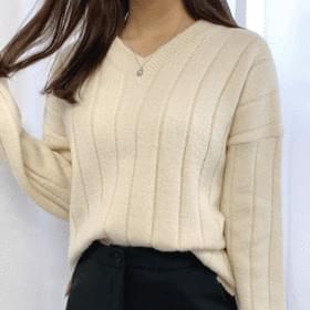 韓國空運 - Pokdak by V-neck knit 針織衫