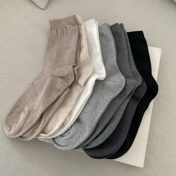 Half-bell cotton socks