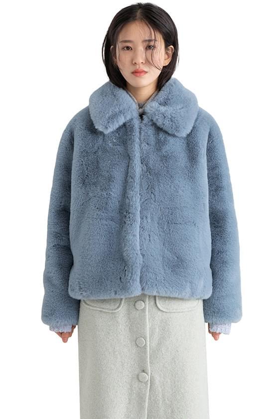 Whipping collar fur jacket 夾克