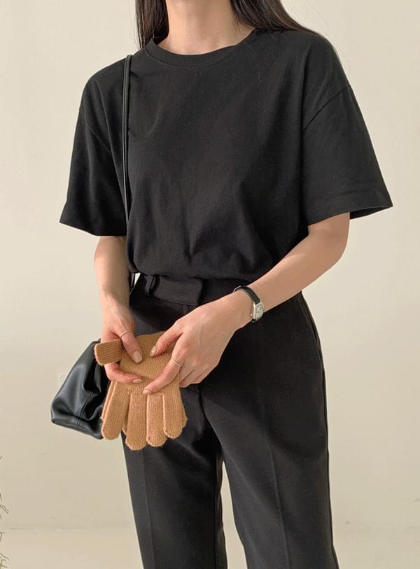 Warm round short sleeve t