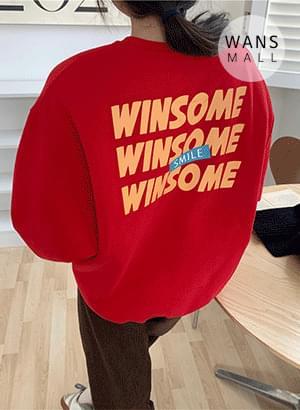 韓國空運 - WINSOME燙印寬鬆大學T 長袖上衣
