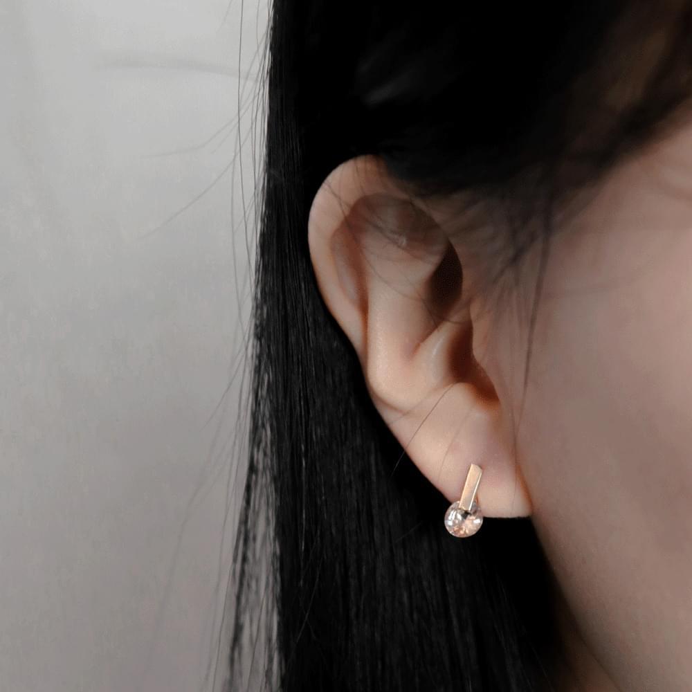 韓國空運 - 10610 mini drop cubic earrings 耳環