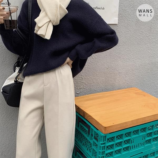 sl3532 tantan straight fit wool slacks (Delayed delivery)