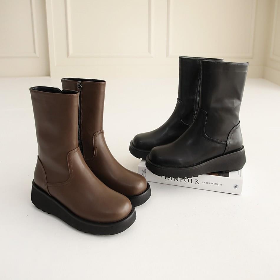 Niatsu Wedge Full Heel Ankle Boots 5cm