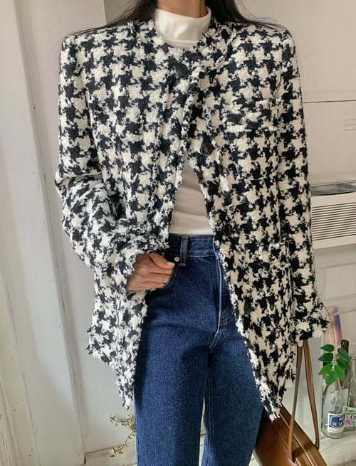Hound Quilted Round Wool Jacket