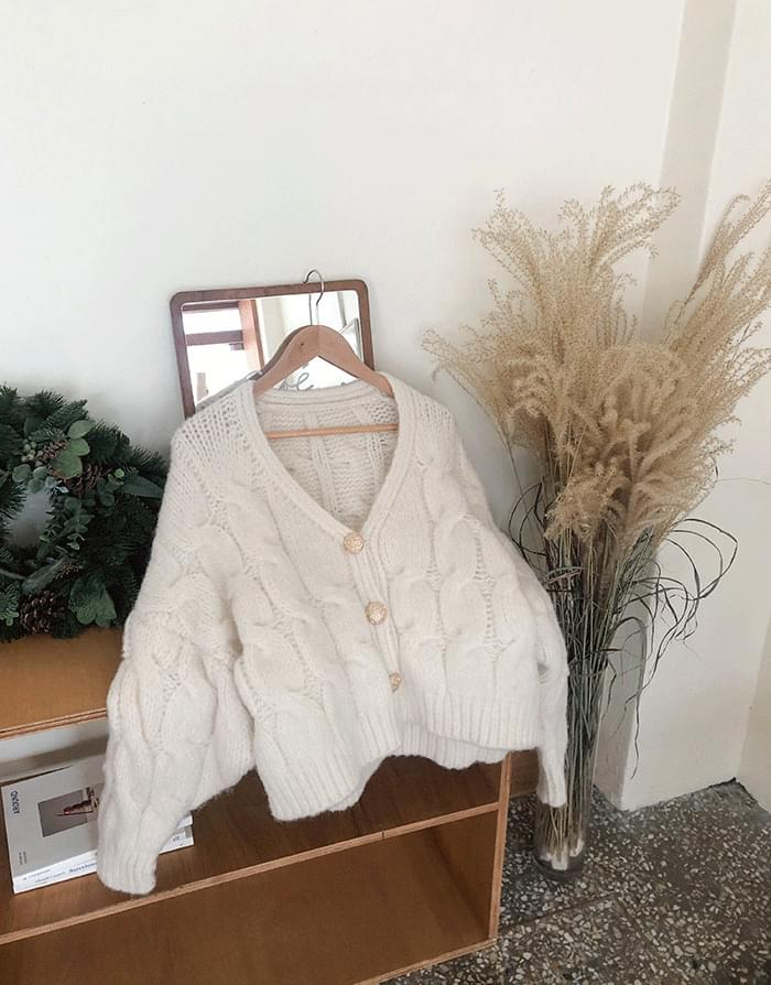 Dottom Gold Cream Cardigan