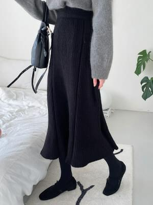 Full Knit Flare Skirt
