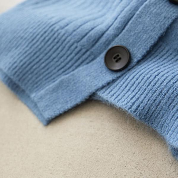Side Buttons Unfoot Turtleneck Neck Wool Knitwear #107837