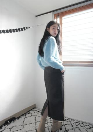 modern and clean midi skirt (3colors)