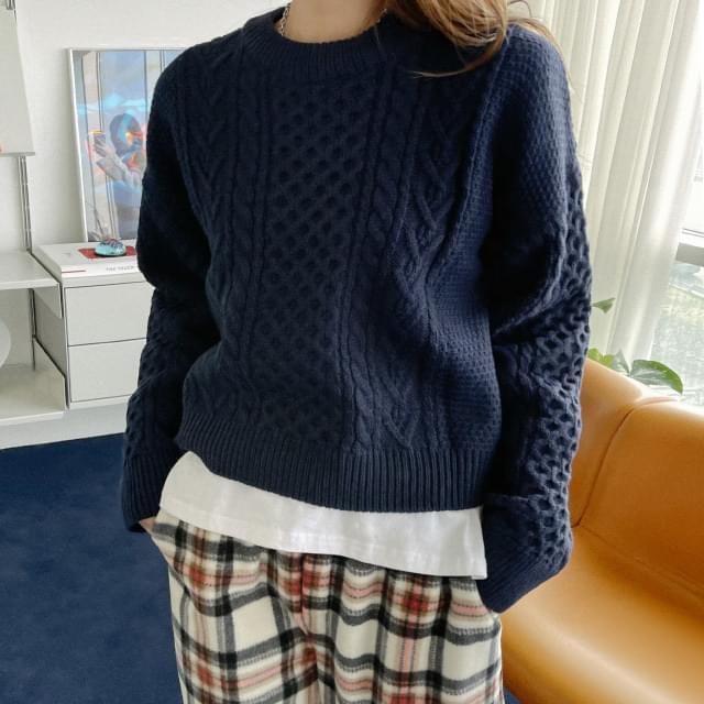 Joanne Unique Cable Knit