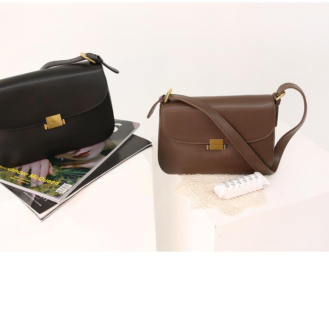 Gold-Tone Clasp Leatherette Bag