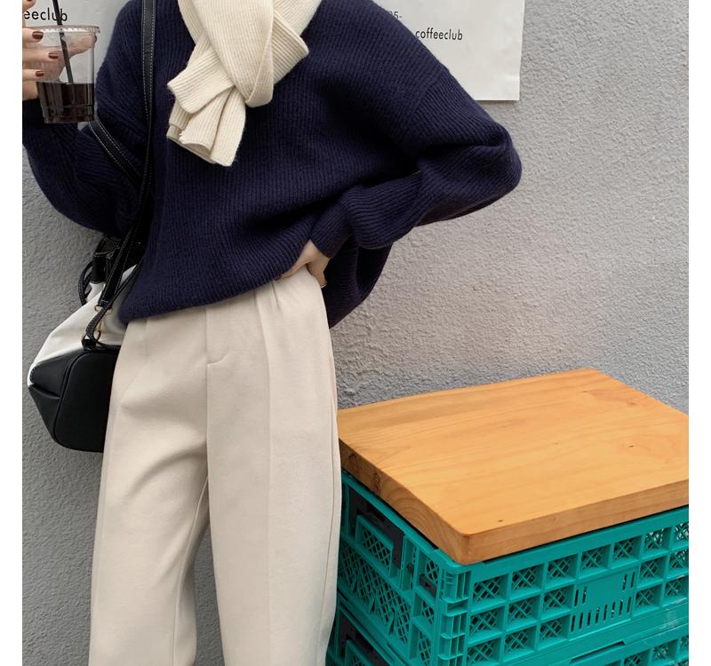 sl3532 tantan straight fit wool slacks