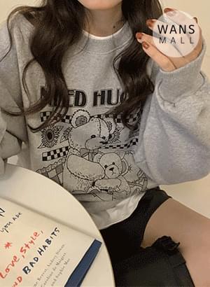 mh3551 hug bear round sweat shirt 長袖上衣
