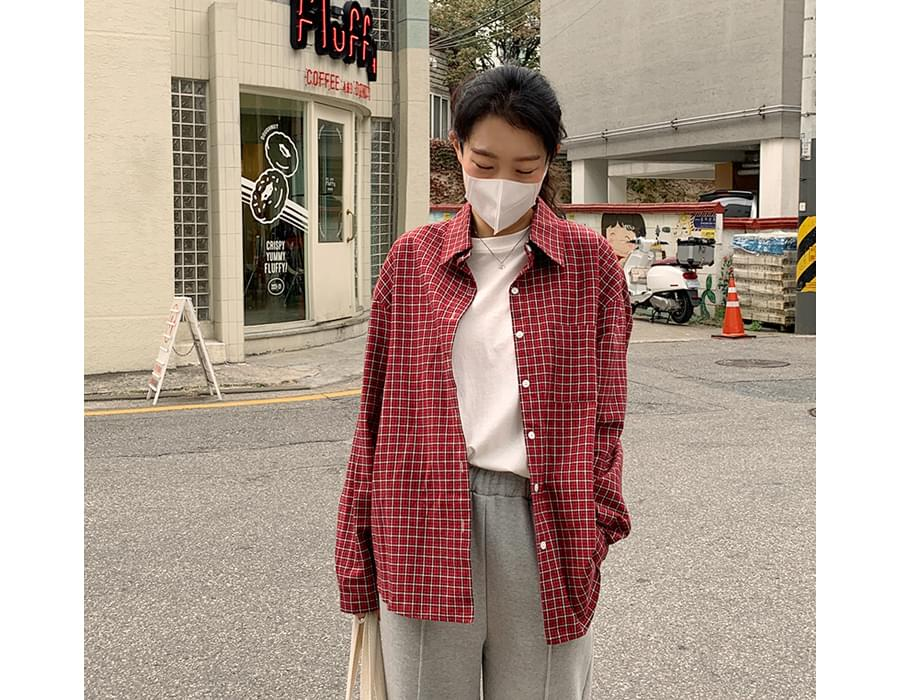 Wafer Loose Fit Check Shirt