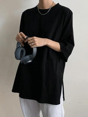 韓國空運 - Box Trim Layered Inner Short Sleeve Tee 短袖上衣