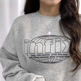 Fix in lettering brushed sweatshirt
