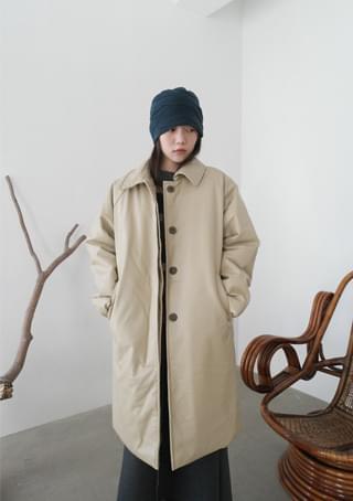 fake leather padding coat