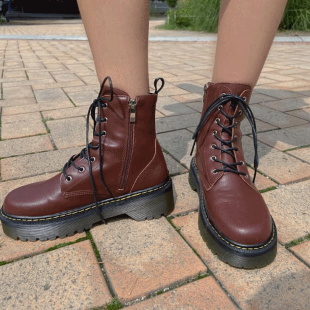 Mood lace-up walker ankle boots