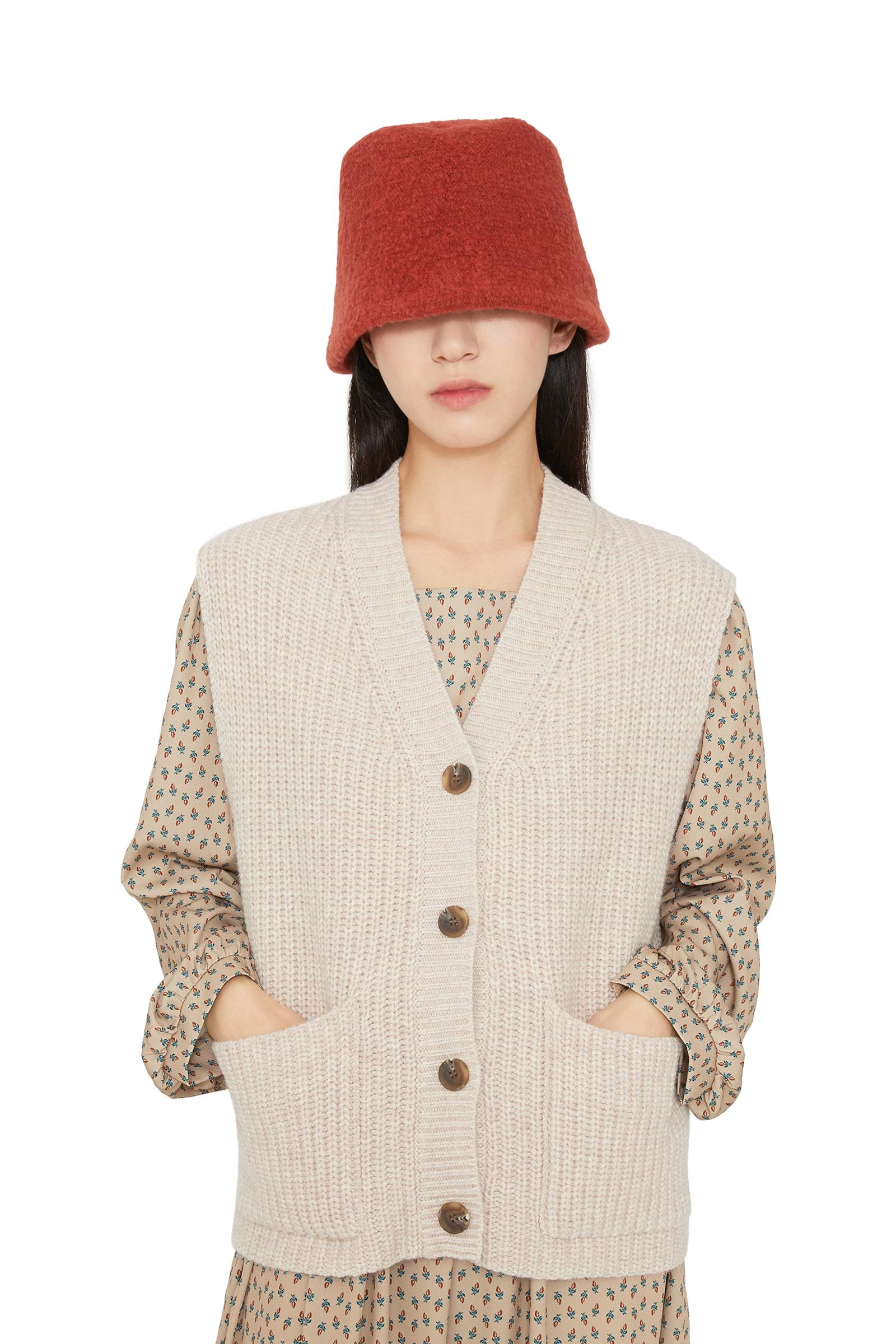 Vivid knit bucket hat