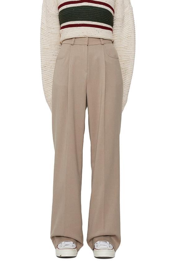 French pintuck slacks pants