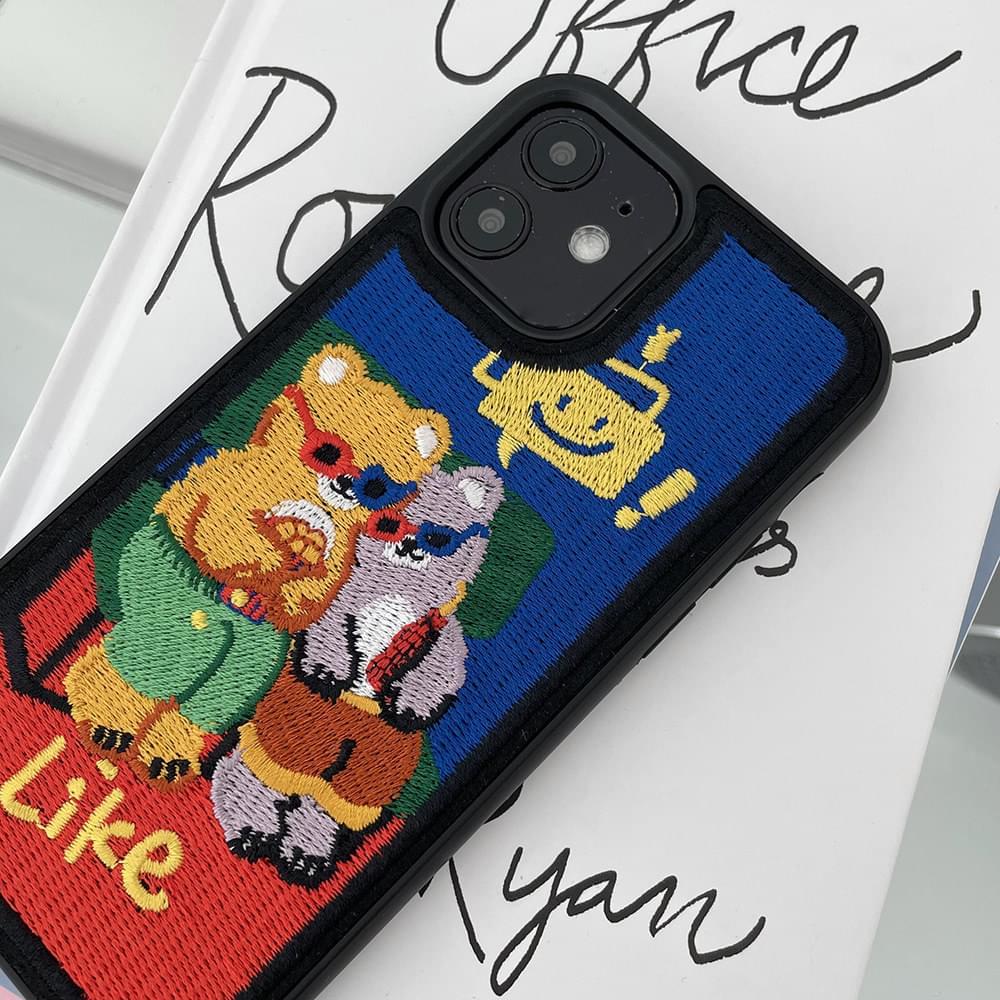 Sungri Gomdori Embroidered iPhone Case