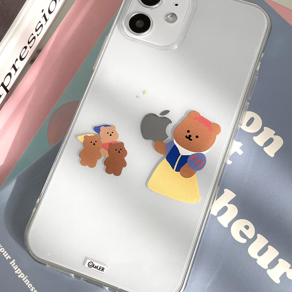 Snow White and Dwarf Apple Logo Design iPhone Case 手機殼