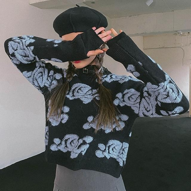 Flower Angora Knit (Delayed delivery)