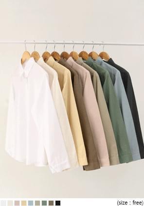基本款素色棉質襯衫