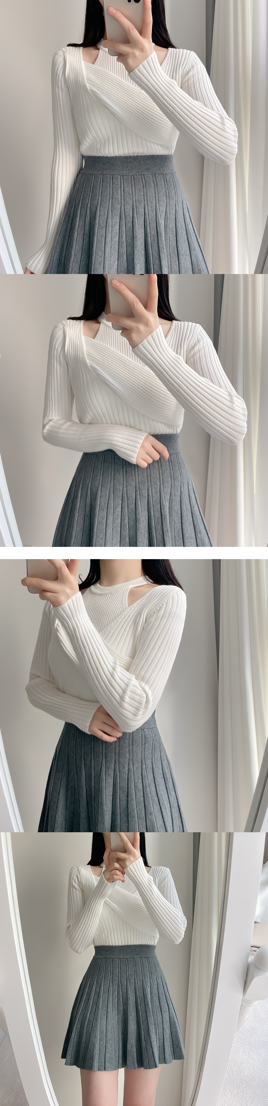 First Ribbed Sleeveless + Lab Knitwear sets 3color