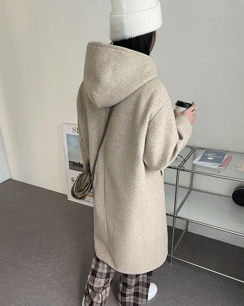 韓國空運 - Moreone Basic Wool Quilted Hooded Coat 大衣外套
