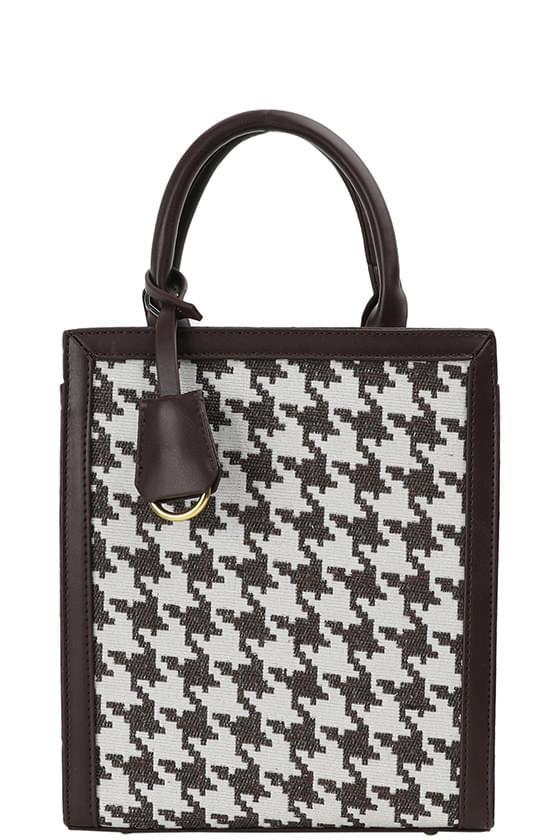 Border hound square shoulder bag