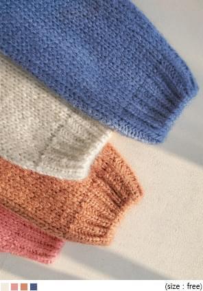麻花紋V領素色針織外套