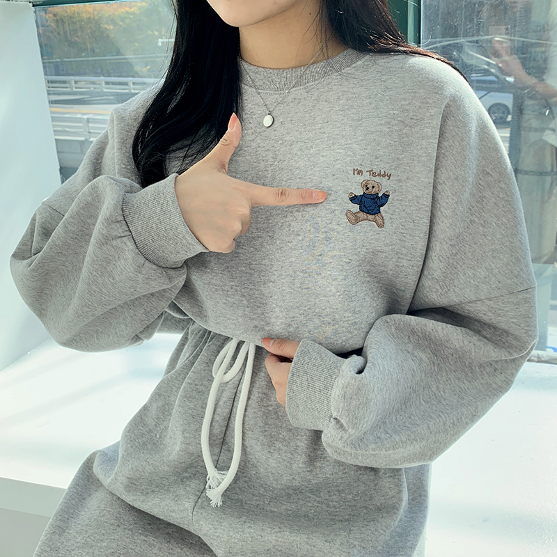Double the warmth! 16 brushed sweatshirt sets♥