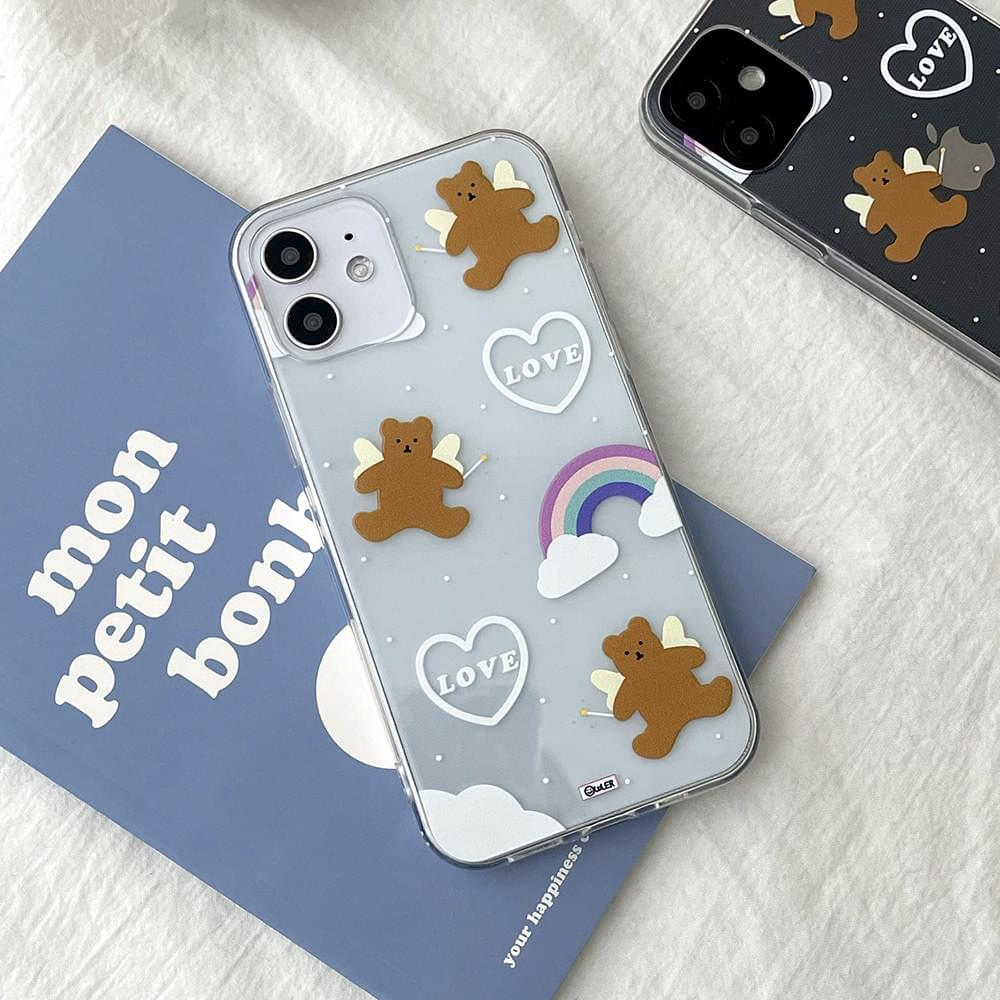 Daku Bear Angel Transparent iPhone Case 手機殼