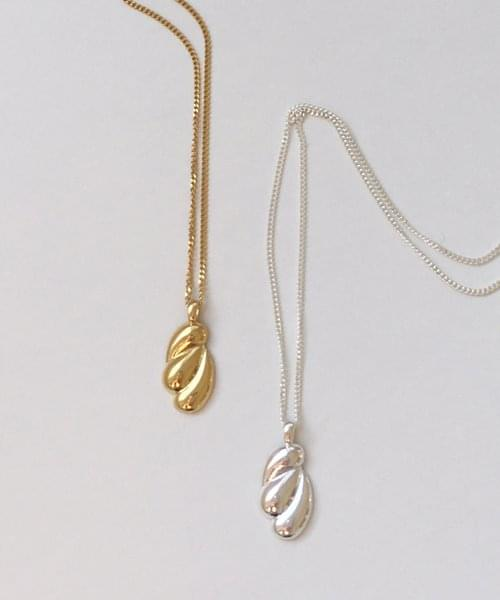 (silver925) natural shape necklace