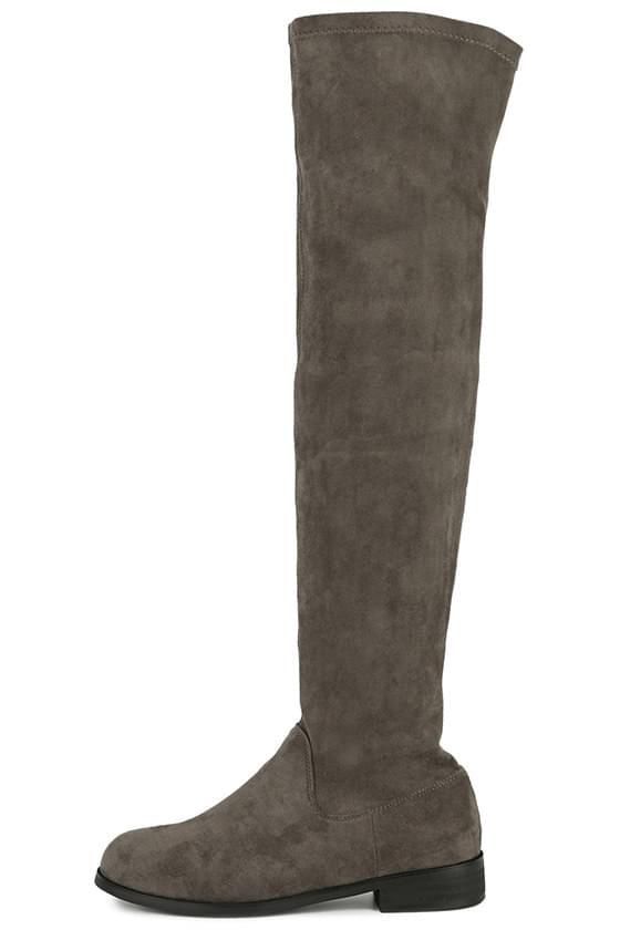 Bird suede long boots
