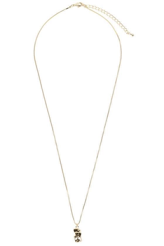 Stone drop necklace (人氣商品配送延遲) 項鍊