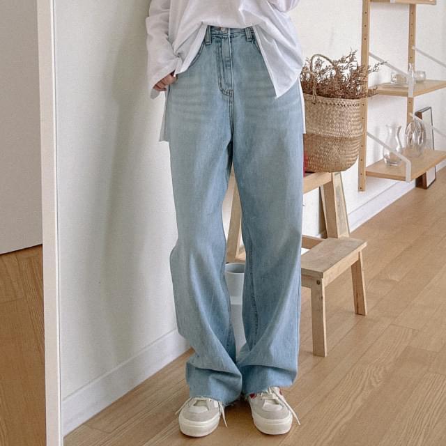 Just Bizo Pintuck Wide Denim Pants 牛仔褲