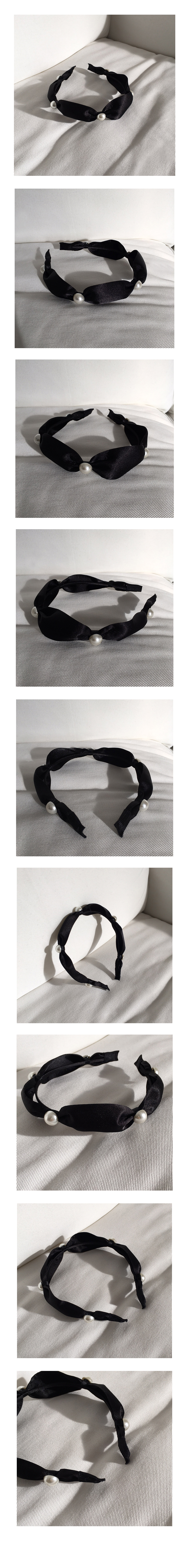 pearl satin hair band