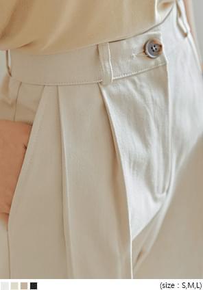壓褶燙線微哈倫棉質長褲