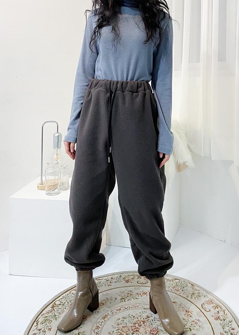 Candy fleece jogger pants