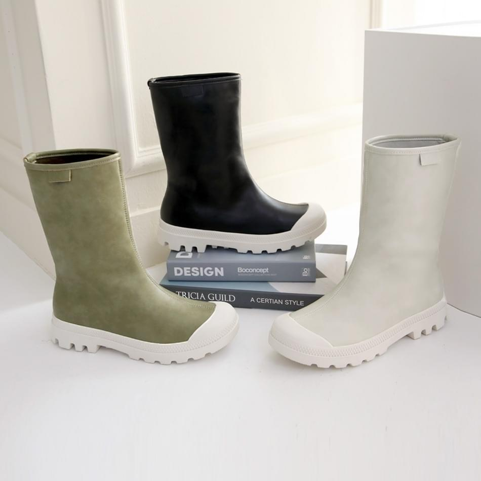 MiKev slip-on middle boots 3cm
