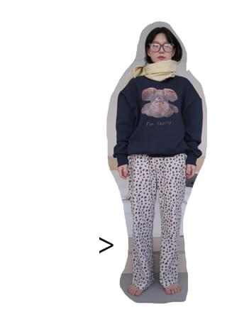 cozy flower sleepwear pants