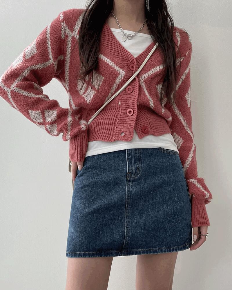 Cutty Basic Denim Mini Skirt