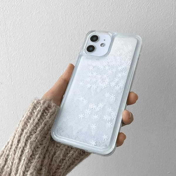 Snowflake Water Shaker iPhone Case 手機殼