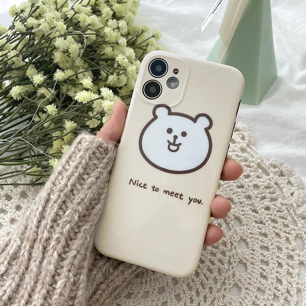 Nice Chumi Choo Bear Full Cover Jelly iPhone Case 手機殼